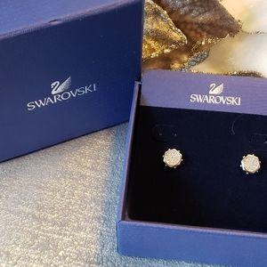 Swarovski Crystal Silver Stud Earrings